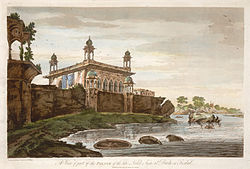 Depiction of Faizabad Fort by William Hodges, 1787.