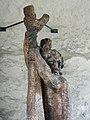 Holz Skulptur Christophorus, 1950, Schnetztor, Wil, St. Gallen. Von Urban Blank, *1922, Bildhauer 1.jpg