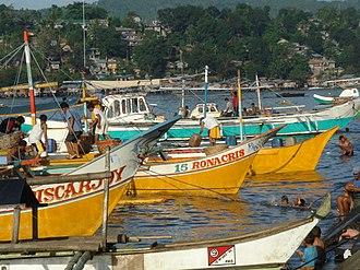 Pagadian - Boats along the Pagadian fishport.