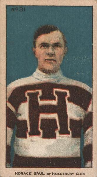 Horace Gaul - Horace Gaul with the Haileybury Hockey Club.