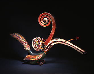 Iban people - A 19th century Iban carving of a hornbill.
