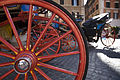 Horse drawn carriages in Piazza Spagna, Rome - 2449.jpg