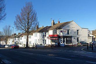 Elm Grove, Brighton - Housing development had reached Wellington Street (right) by 1864.