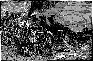 Bartholomew Roberts - The death of Captain Howell Davis in an ambush on Príncipe