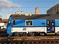 Hrušovany u Brna, železniční stanice, vůz 80-30 002 (01).jpg