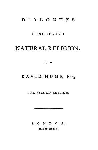 Dialogues Concerning Natural Religion - Title page