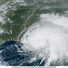 File:Hurricane Sally approaching Gulf Coast on afternoon of September 15.ogv