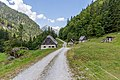 Huts (Hartelsgraben Jagdhütte), Gesäuse National Park, Ennstaler Alpen, Austria.jpg