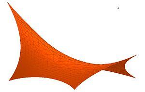Stretched grid method - Fig. 4 Hypar (hyperbolic paraboloid)