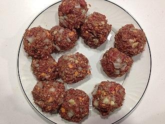 Meatball - Raw meatballs