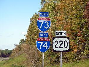 Interstate 74 in North Carolina - I-73/I-74/US220, near Biscoe