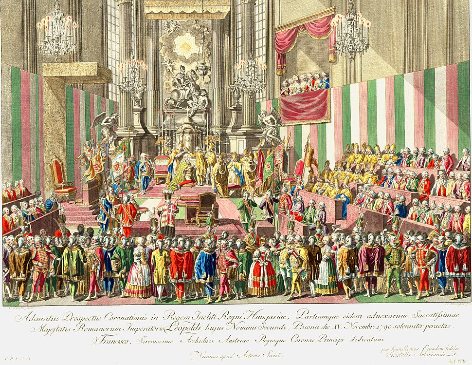 II. Lipót koronázása 1790-ben