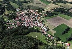Letecký pohled naBlevice odvýchodu
