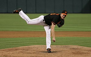 Kris Benson - Benson pitching for the Orioles in 2006