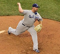 Jonathan Broxton with the Los Angeles Dodgers in 2010