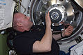 ISS-30 André Kuipers with ATV-3's docking cone.jpg