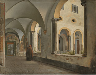 The Cloisters of the Franciscan Monastery Santa Maria in Aracoeli in Rome
