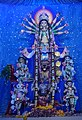 Idol of Goddess Durga being worshipped in a Panadal at Kolkata 01.jpg