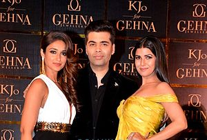 Karan Johar - Image: Ileana and Karan Johar
