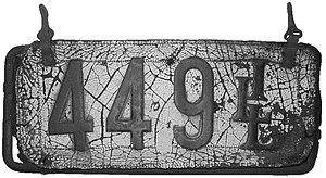 Vehicle registration plates of Illinois - Image: Illinois 1907 license plate 449