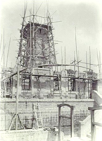 Cape Bojeador Lighthouse - Cape Bojeador Lighthouse during construction in the 1890s.