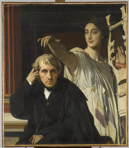 Ingres - LE COMPOSITEUR CHERUBINI ET LA MUSE DE LA POESIE LYRIQUE, 1842