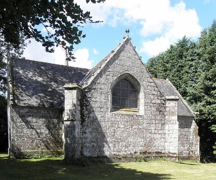 Chapelle de Locmaria, commune d'Inguiniel (56). Chevet.