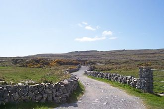 Aran Islands - Road in Inishmore.