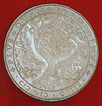 Siege of Sluis (1604) - Dutch coin celebrating the capture of Sluis in 1604