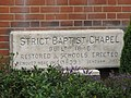 Inscribed stone on Old Bexley Baptist Chapel - geograph.org.uk - 853630.jpg