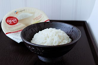 Instant rice - Instant white rice (microwave ready, not dehydrated) sold in Korea