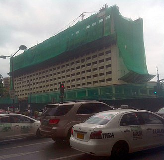 InterContinental Manila - Demolition of the hotel; August 2016