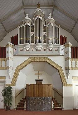 Interieur, aanzicht orgel, orgelnummer 144 - Beetgumermolen - 20417547 - RCE.jpg