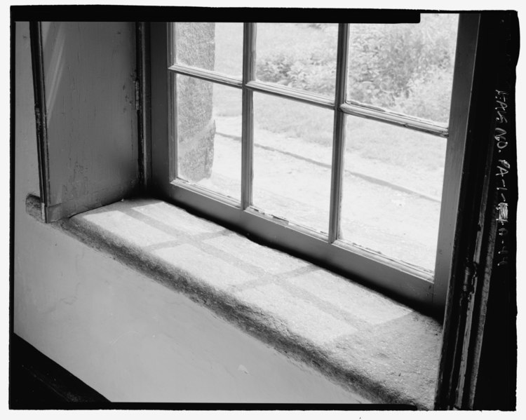 File Interior Detail Stone Sill East Study Window This Is The Only Stone Window Sill In The
