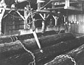 Interior of Moran Brothers Co sawmill, Seattle, loading saw carriage (CURTIS 213).jpeg