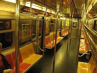 R62 (New York City Subway car) - Image: Interior of R62 Subway