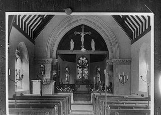 Interior of St. Mary's church, Abbeycwmhi