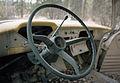 Interior of old truck near Mendenhall, Yukon (14326841295).jpg