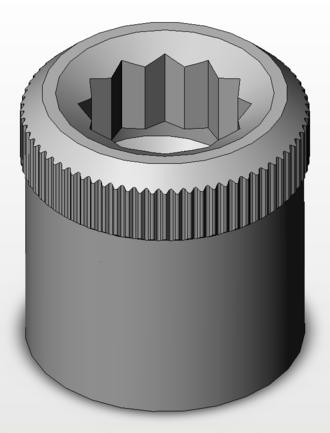 Internal wrenching nut - Internal wrenching nut
