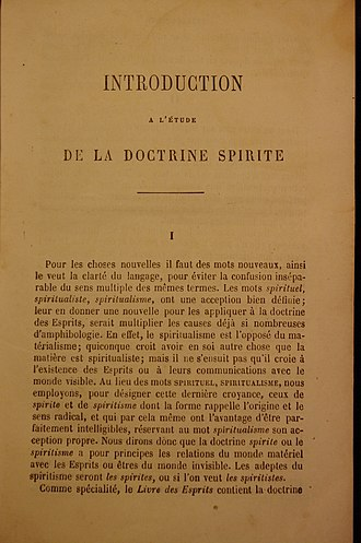 The Spirits Book - First edition of the book, published in 1857.