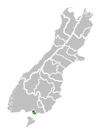 Mabel Bush's location within the South Island