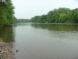 Iowa River - The Iowa River upstream of Marshalltown, Iowa