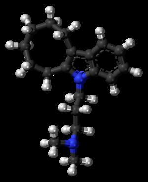 Iprindole - Image: Iprindole molecule ball