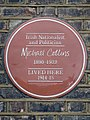 Irish Nationalist and Politician Michael Collins 1890-1922 LIVED HERE 1914-15.jpg