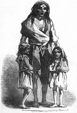 La Grande Famine dans les années 1845-1849 en Irlande provoquée par l épidémie de mildiou.