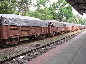 Train carrying Iron Ore to Marmagao Port, Goa