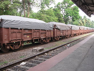 Mormugao - Train carrying Iron Ore to Marmagao Port