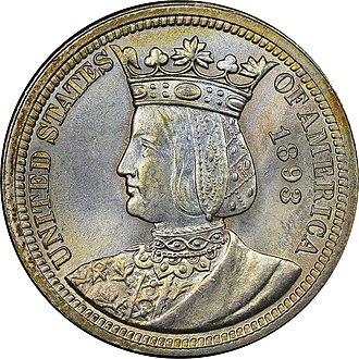 Isabella quarter - Image: Isabella quarter obverse