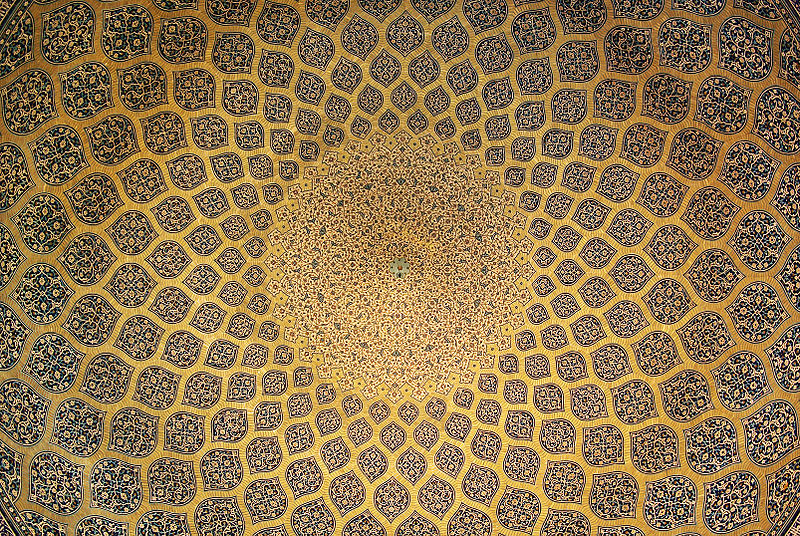 File:Isfahan Lotfollah mosque ceiling.jpg