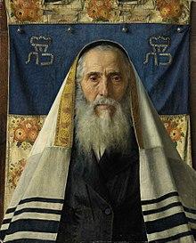 Ritratto di un rabbino con lo scialle da preghiera, di Isidor Kaufmann
